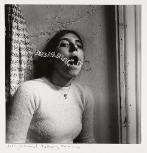 Self-portrait talking to Vince, Providence, Rhode Island, 1977 ©Francesca Woodman